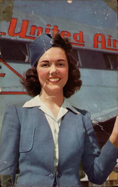 A charming stewardess United Airlines Aircraft