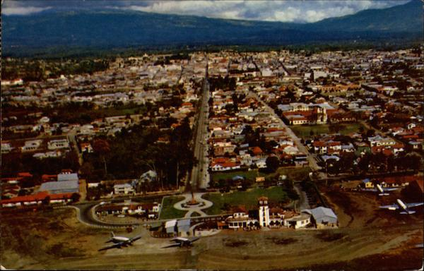 Aerial view of San Jose', Costa Rica Central America