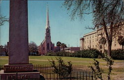 Marion Square and St. Mathews Lutheran Church Postcard