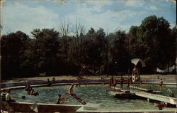 Camp in Pocono Mountains Postcard