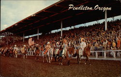 Indians in the Pendleton Roundup Arena