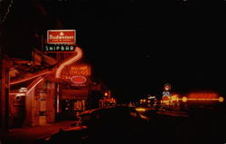 Carson City at Night Postcard