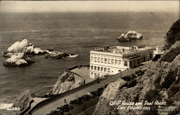 Cliff House and Seal Rooks San Francisco California