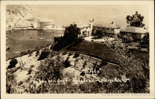 Mr. Ada; Mrs. William Wrigley Jr. Residence Catalina Isle California