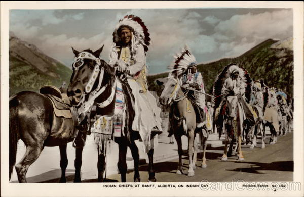 Indian Chiefs at Banff, Alberta on Indian Day Canada
