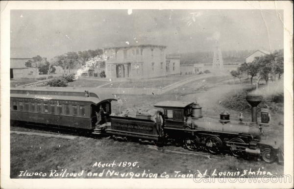 Ilwaco Railroad and Navigation Co. Train Long Beach California