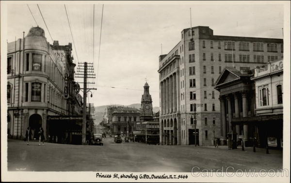 Princes St., Showing GPO Dunedin New Zealand