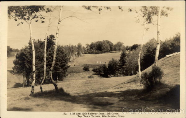 11th and 12th Fairway from 12th Green of Toy Town Tavern Winchendon Massachusetts