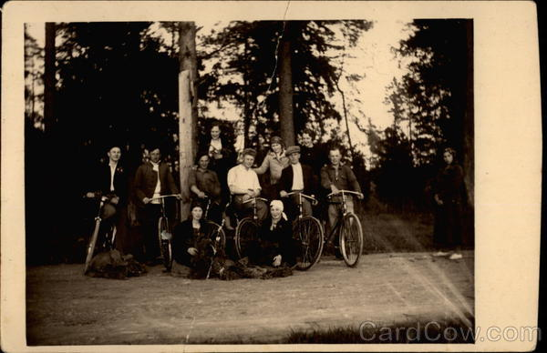 A Group of Cyclists Bicycles