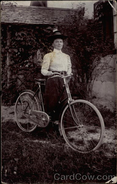 A Woman With Her Bicycle Bicycles