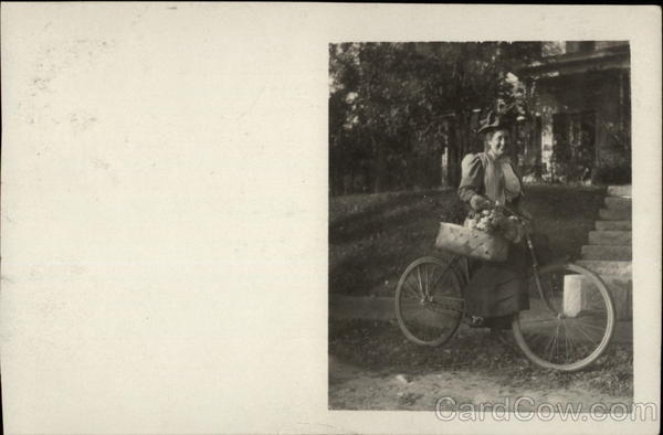 Lady with Bike Coffstown Bicycles