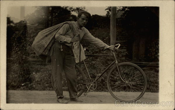 Delivery Boy with his Bike Bicycles