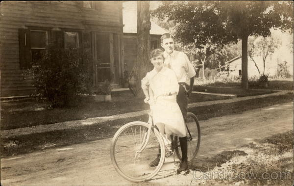 A Couple on a Bike Bicycles