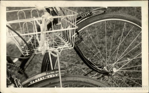 A Bicycle With a Basket Bicycles