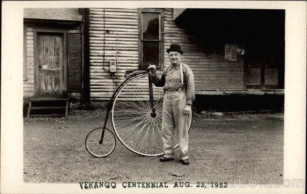 Venango Centennial Aug. 23, 1952 Pennsylvania Bicycles