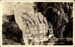 Boulder Dam as seen from Lookout Point on the Neveda Rim of Black Canyon