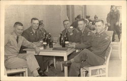 Soldiers Gathered for a Drink