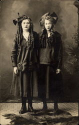 Two Girls Posed for a Portrait