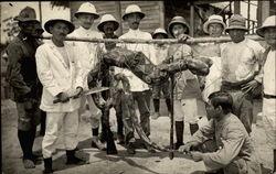 Asian Explorers & Giant Snake