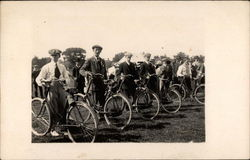 Men Ready With Their Bicycles