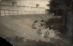 Bicycles on race track