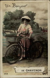 Un Bonjour Lady on Bike
