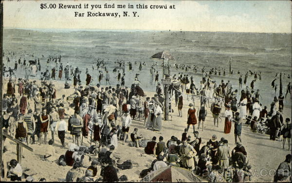 $5.00 Reward if you find me in this crowd Far Rockaway New York