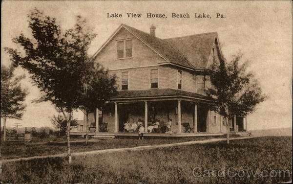 Lake View House Beach Lake Pennsylvania