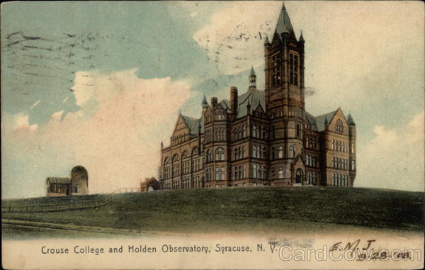 Crouse College and Holden Observatory Syracuse New York