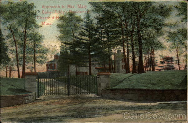 Approach to Mrs. Mary Baker Eddy's Residence Chestnut Hill Massachusetts