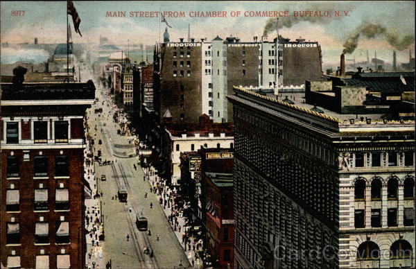 Main Street from Chamber of Commerce Buffalo New York
