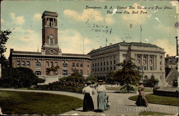 Central Fire Station and Post Office Providence Rhode Island