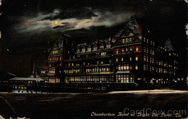Chamberlain Hotel at Night Old Point Comfort Virginia