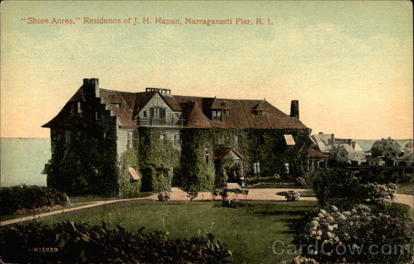 Shore Acres, Residence of J. H. Hanan Narragansett Rhode Island