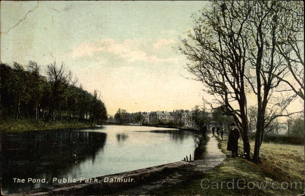 The Pond, Public Park Dalmuir Scotland