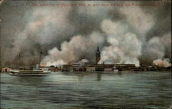 The awful fire of April 18th 1905, as seen from the bay