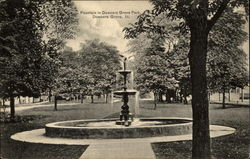 Fountain in Downers Grove Park