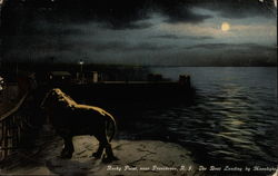 Rocky Point, The Boat Landing By Moonlight