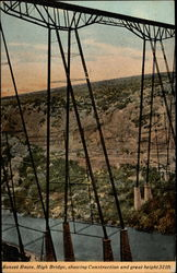 Sunset Route, High Bridge, showing Construction and great height 321 ft