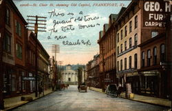 St. Clair St. showing Old Capitol Postcard