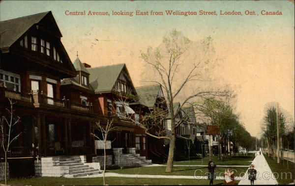 Central Avenue, Looking East from Wellington Street London Canada