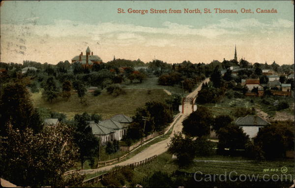 St. George Street from North St. Thomas Canada Ontario
