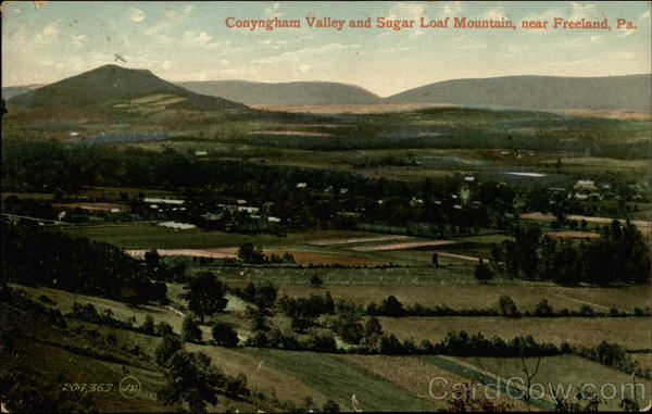 Conyngham Valley and Sugar Loaf Mountain Freeland Pennsylvania