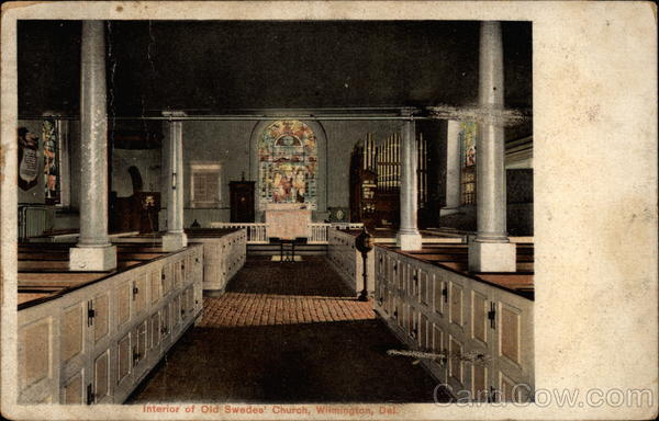 Interior of Old Swedes' Church Wilmington Delaware