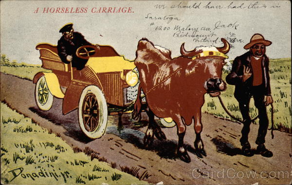 A Horseless Carriage Comic, Funny
