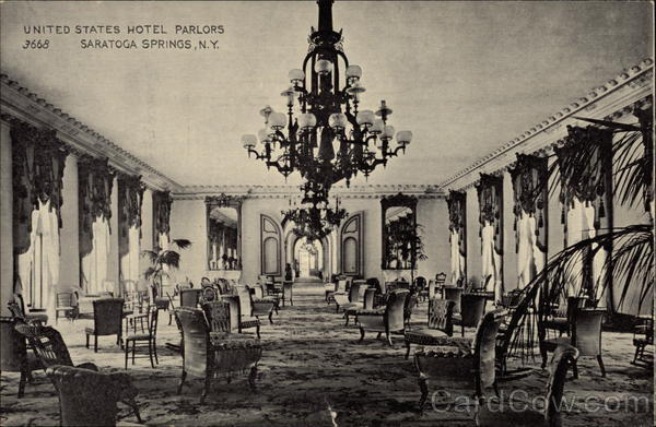 United States Hotel Parlors Saratoga Springs New York