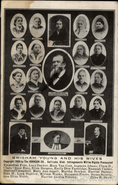 Brigham Young and his wives Salt Lake City Utah Men