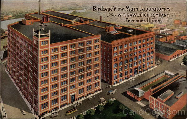 Birdseye View Main Laboratories, The W.T. Rawleigh Company Freeport Illinois