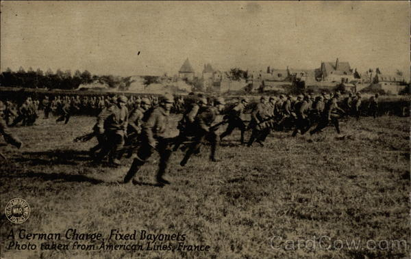 A German Charge, Fixed Bayonets Photo Taken From American Lines, France