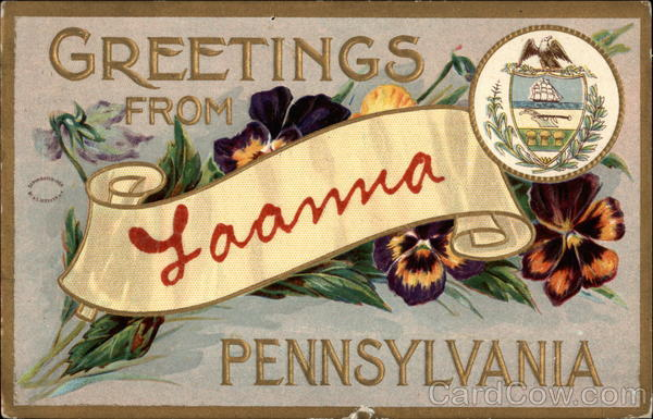 Greetings from Laanna, Pennsylvania